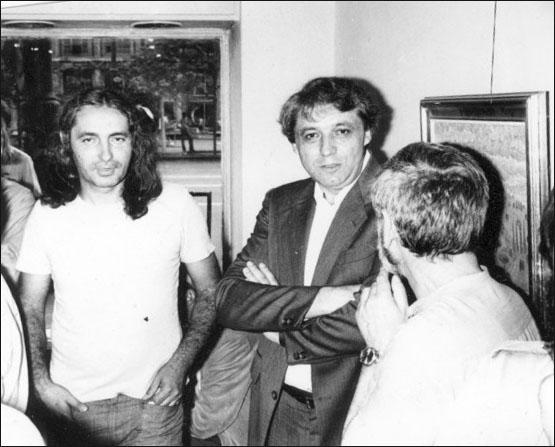 Olos si Breban la Expozitia C. Dipse din1981sala Simeza Bucuresti prel